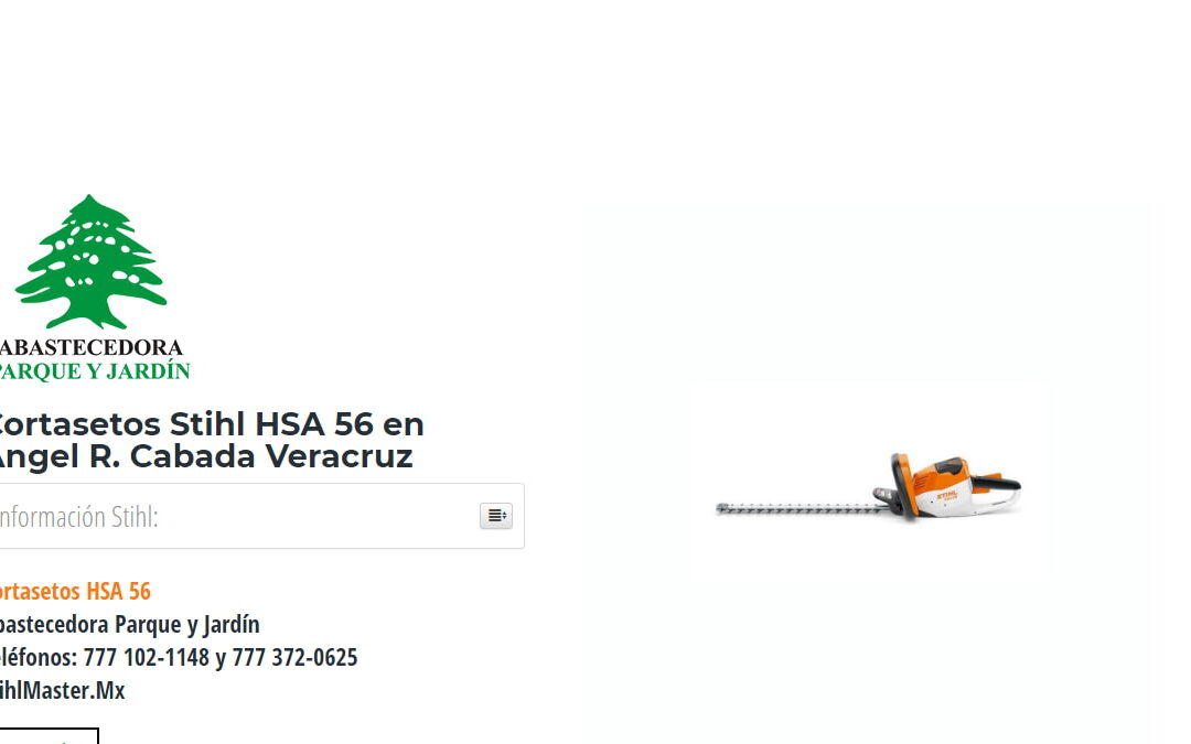Cortasetos Stihl HSA 56 en Angel R. Cabada Veracruz