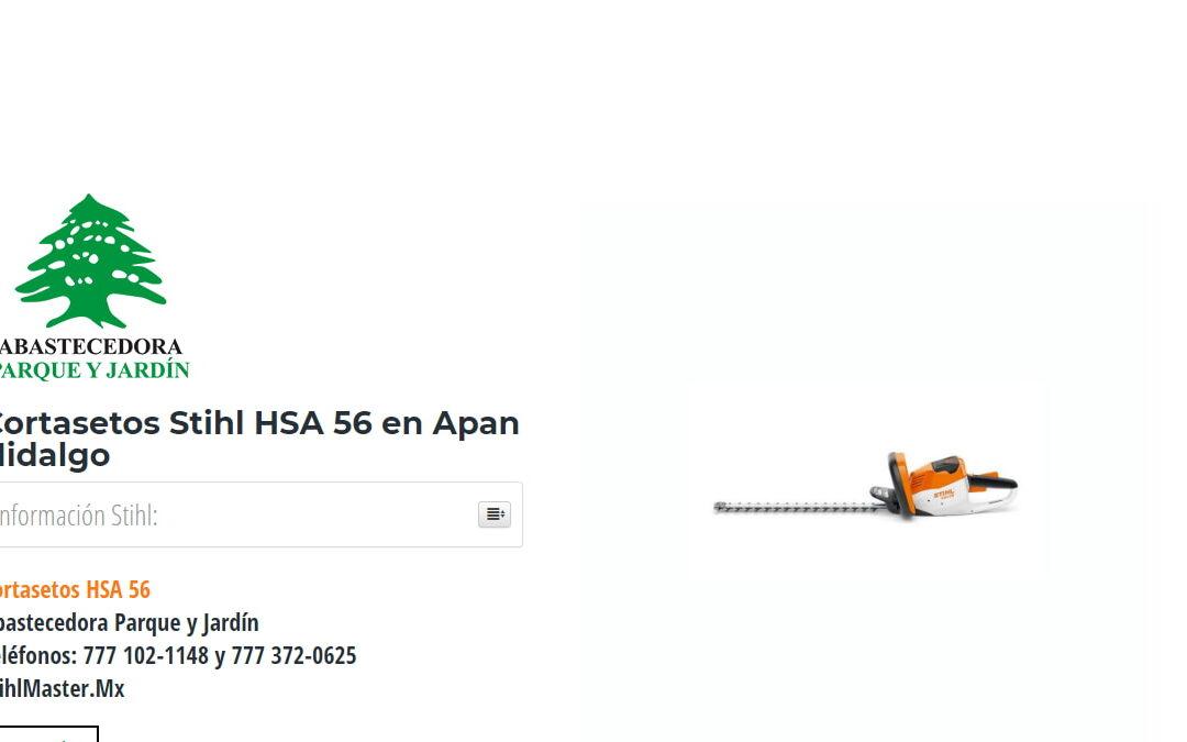 Cortasetos Stihl HSA 56 en Apan Hidalgo