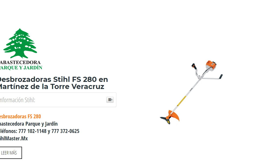 Desbrozadoras Stihl FS 280 en Martínez de la Torre Veracruz