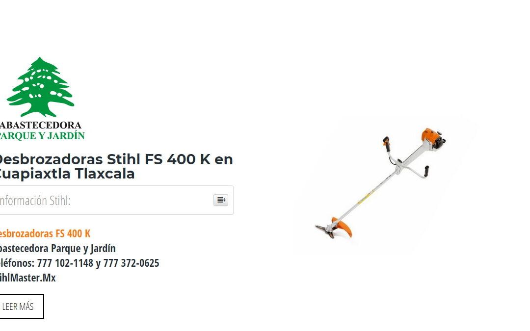 Desbrozadoras Stihl FS 400 K en Cuapiaxtla Tlaxcala