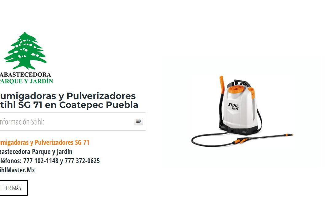 Fumigadoras y Pulverizadores Stihl SG 71 en Coatepec Puebla