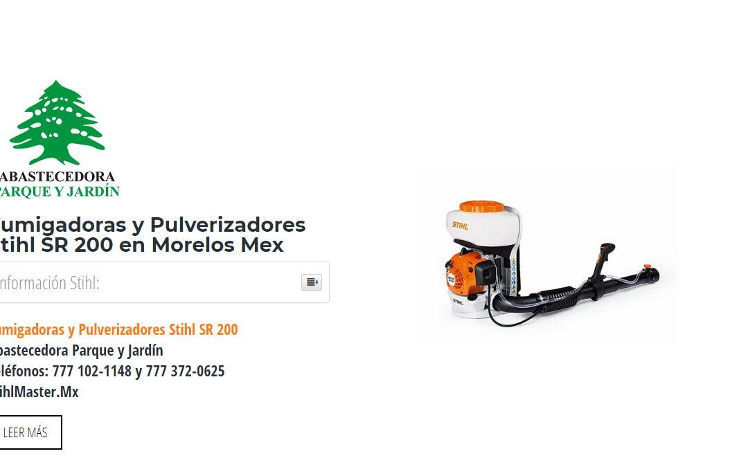 Fumigadoras y Pulverizadores Stihl SR 200 en Morelos Mex