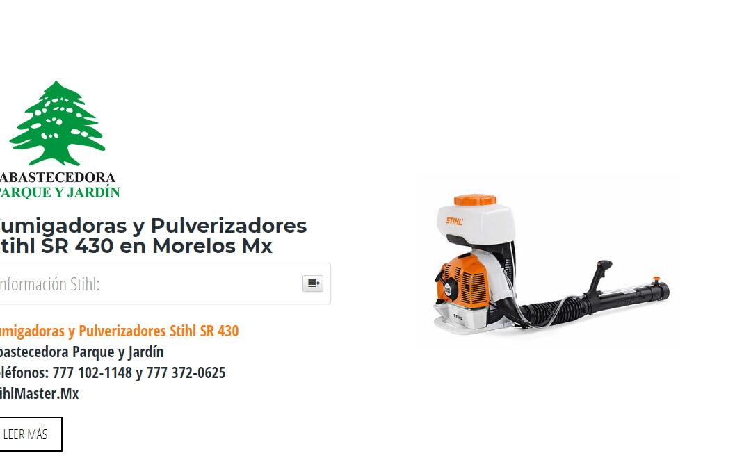 Fumigadoras y Pulverizadores Stihl SR 430 en Morelos Mx
