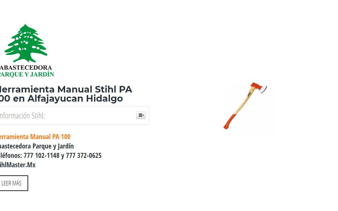 Herramienta Manual Stihl PA 100 en Alfajayucan Hidalgo