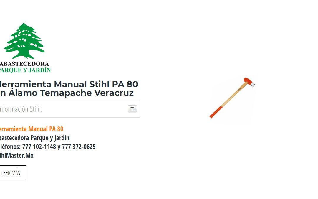 Herramienta Manual Stihl PA 80 en Álamo Temapache Veracruz