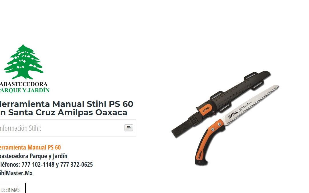 Herramienta Manual Stihl PS 60 en Santa Cruz Amilpas Oaxaca