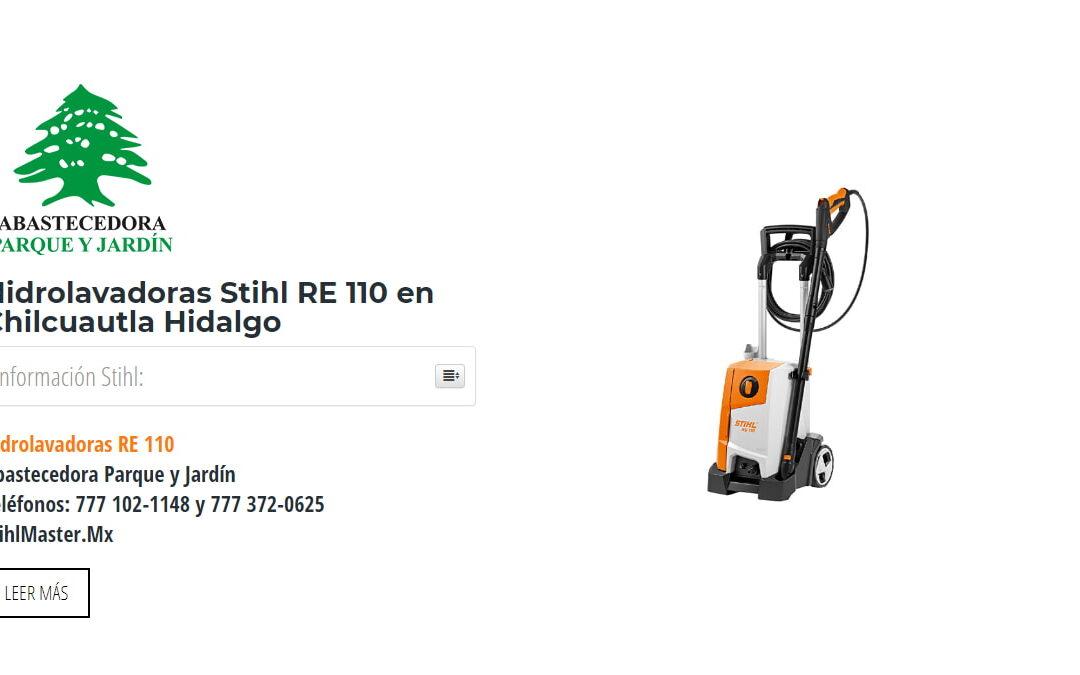 Hidrolavadoras Stihl RE 110 en Chilcuautla Hidalgo