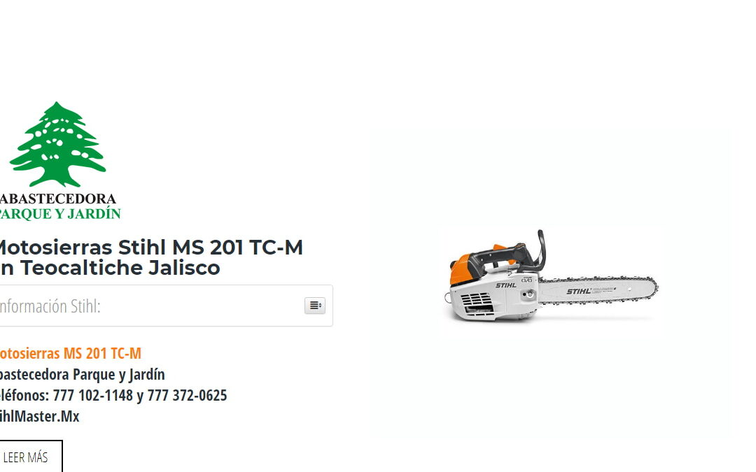 Motosierras Stihl MS 201 TC-M en Teocaltiche Jalisco