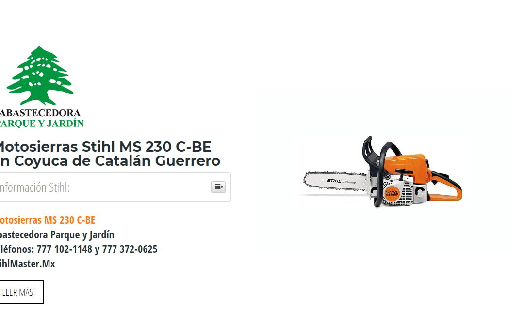Motosierras Stihl MS 230 C-BE en Coyuca de Catalán Guerrero