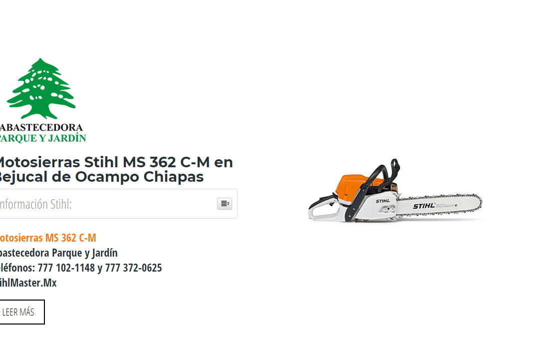 Motosierras Stihl MS 362 C-M en Bejucal de Ocampo Chiapas