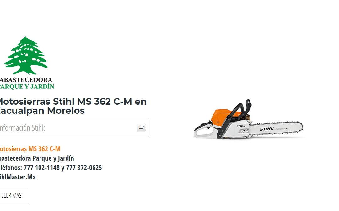 Motosierras Stihl MS 362 C-M en Zacualpan Morelos