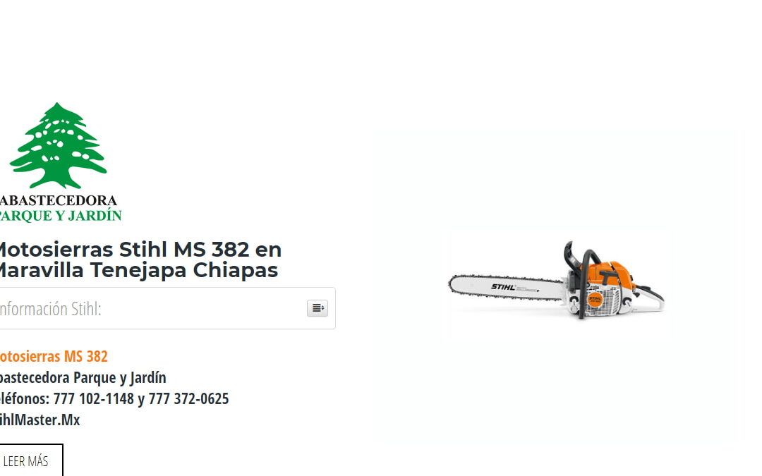 Motosierras Stihl MS 382 en Maravilla Tenejapa Chiapas