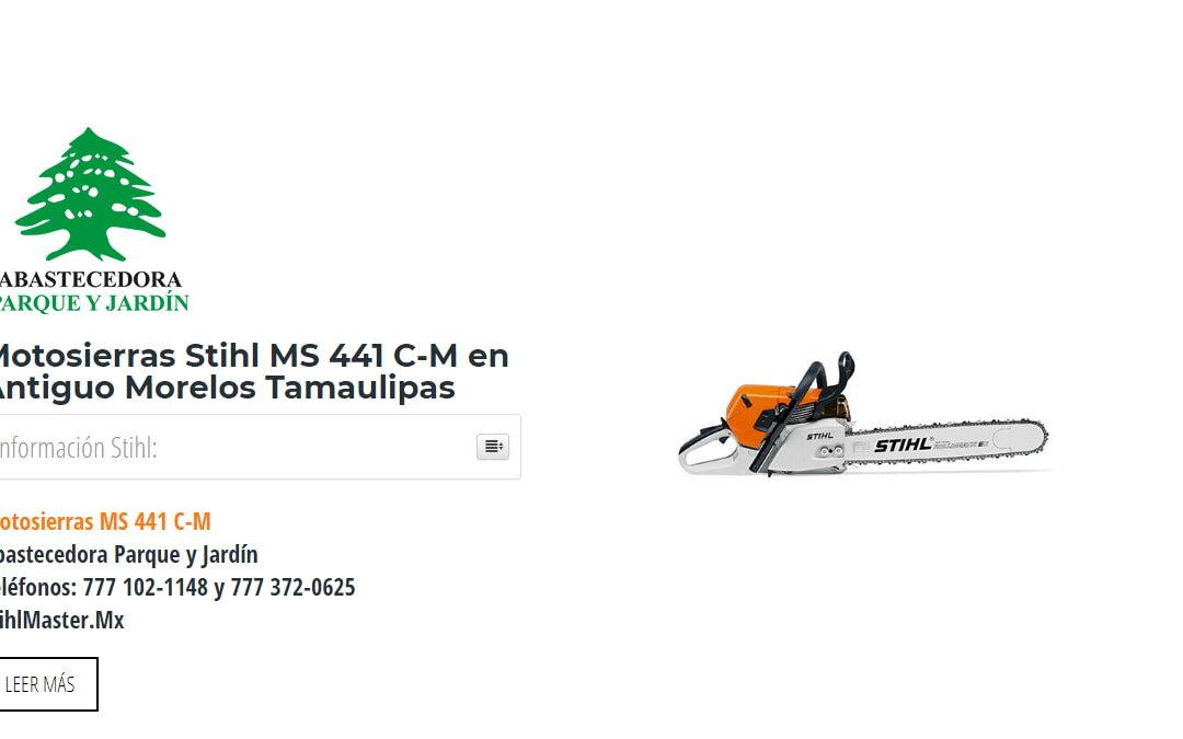Motosierras Stihl MS 441 C-M en Antiguo Morelos Tamaulipas