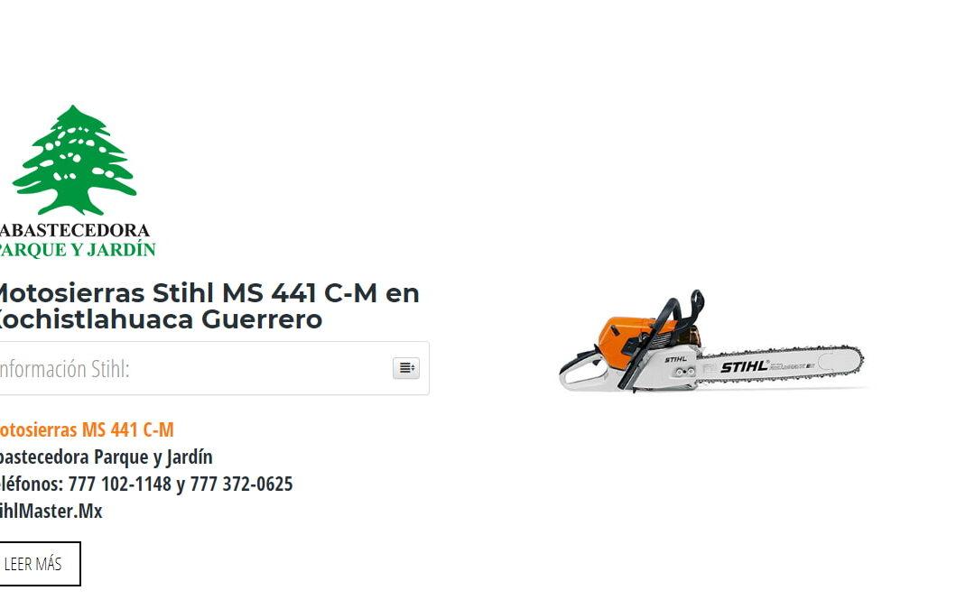 Motosierras Stihl MS 441 C-M en Xochistlahuaca Guerrero