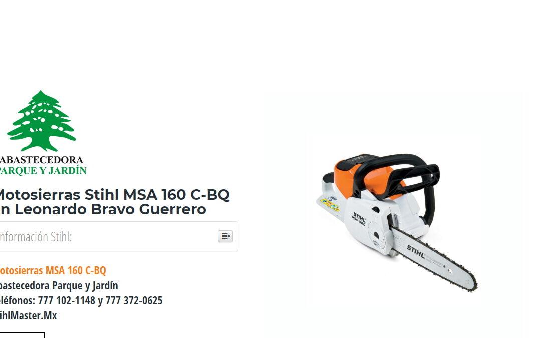 Motosierras Stihl MSA 160 C-BQ en Leonardo Bravo Guerrero