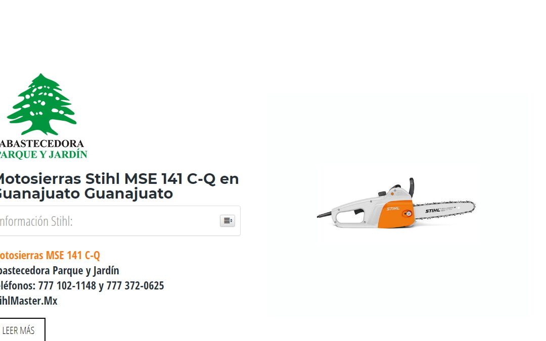 Motosierras Stihl MSE 141 C-Q en Guanajuato Guanajuato