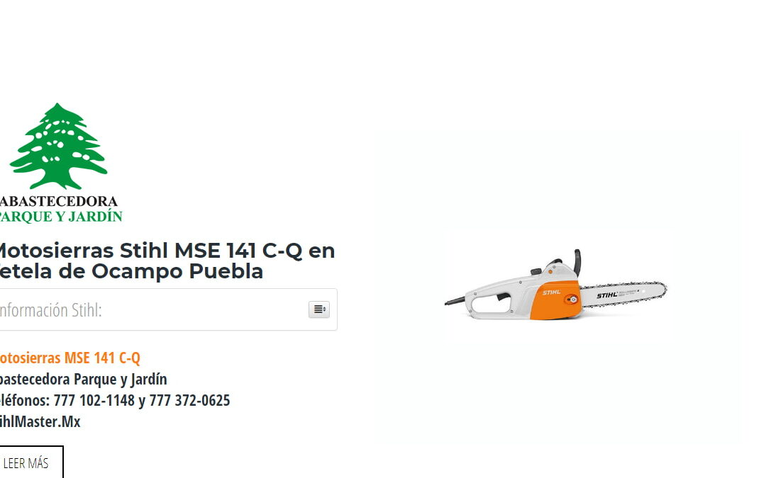 Motosierras Stihl MSE 141 C-Q en Tetela de Ocampo Puebla