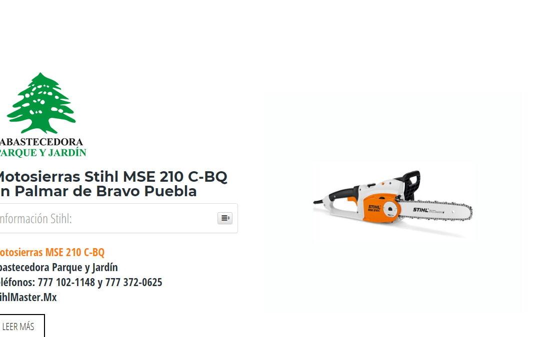 Motosierras Stihl MSE 210 C-BQ en Palmar de Bravo Puebla