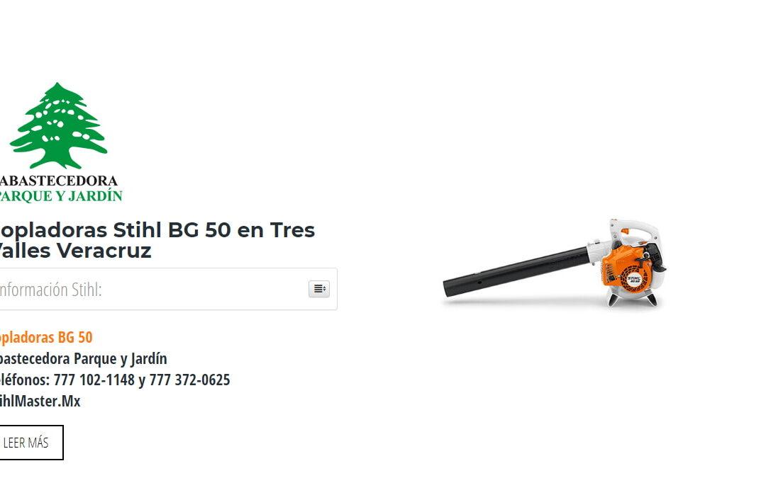 Sopladoras Stihl BG 50 en Tres Valles Veracruz