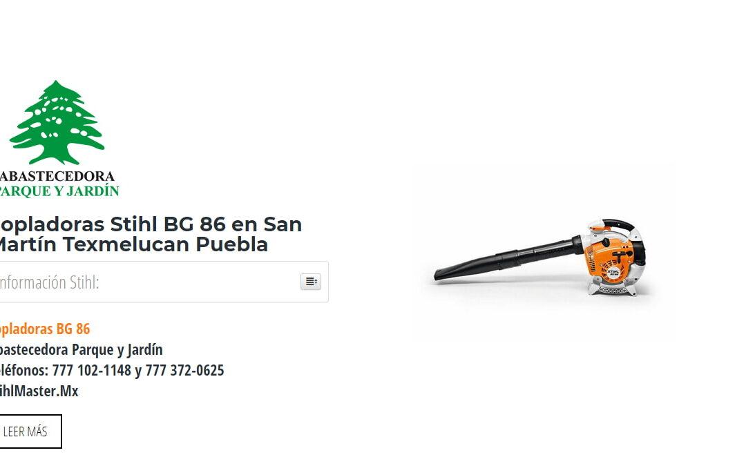 Sopladoras Stihl BG 86 en San Martín Texmelucan Puebla