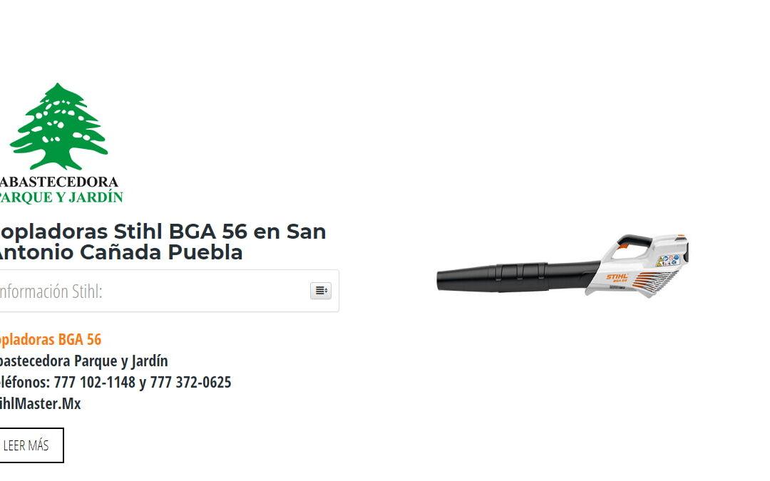 Sopladoras Stihl BGA 56 en San Antonio Cañada Puebla