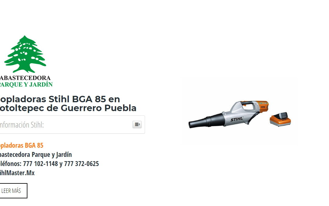 Sopladoras Stihl BGA 85 en Totoltepec de Guerrero Puebla