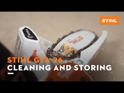 STIHL GTA 26 – Cleaning and storing