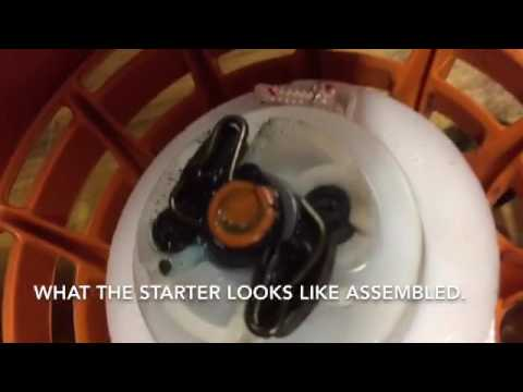Stihl starter parts assembly pull cord install for blower.