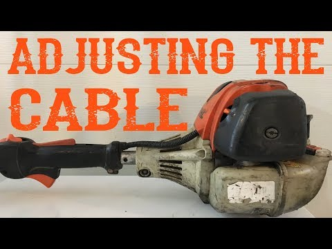 How To Adjust The Throttle Cable on an FS90 Stihl Trimmer