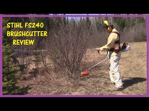 STIHL FS240 BRUSH CUTTER REVIEW – HOW TO USE A BRUSH CUTTER WITH 120 TOOTH RENEGADE BLADE