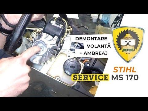 [SERVICE] Demontare Ambreaj + Volantă Motofierăstrău STIHL MS170