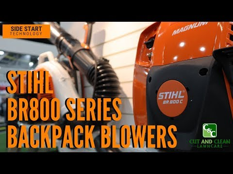 STIHL BR800c and BR800x BR800 Backpack Blower | GIE EXPO 2018 overview
