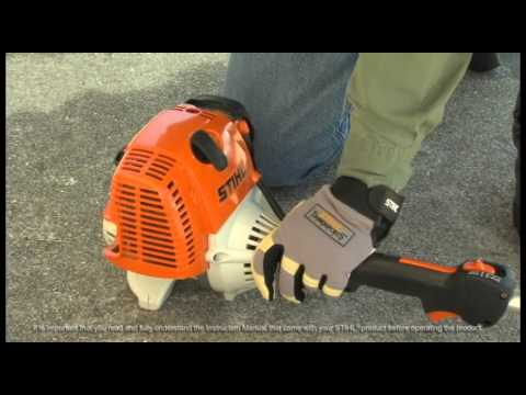 STIHL FC 90- How to Start