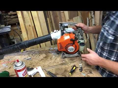 Carb work on a Stihl bg 55 leaf blower.