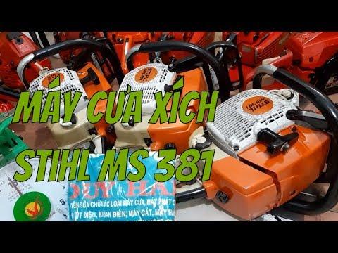 Máy cưa xích Stihl MS 381  hàng đã qua sử dụng XILANH 52MM 72CC LH 0974644973 zalo #91