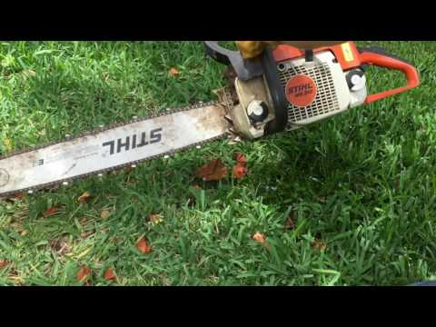 STIHL MS 310 Chainsaw – Found out with the trash. Will it run?