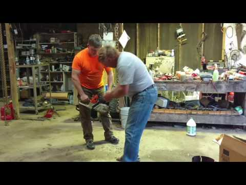Firing up Stihl 066 rebuild with big bore kit.